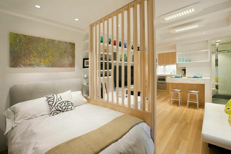 belleza apartamento pequeno dormitorio abierto estilo escandinavo