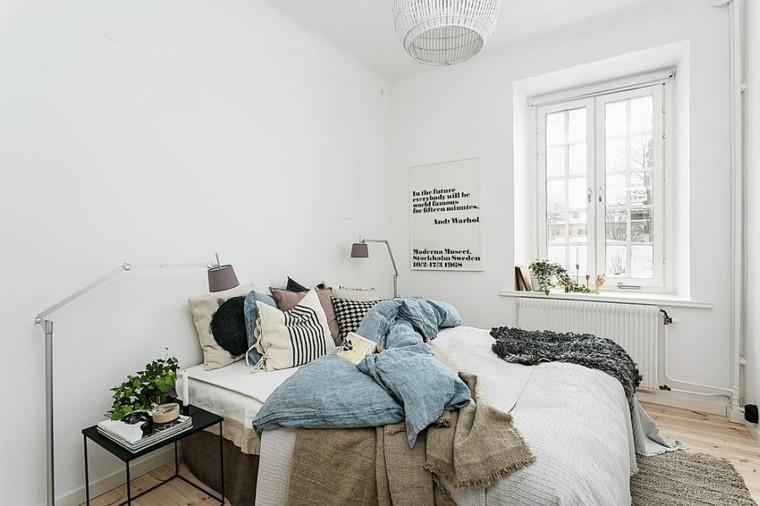 belleza y estilo en dormitorios con dise o escandinavo. Black Bedroom Furniture Sets. Home Design Ideas
