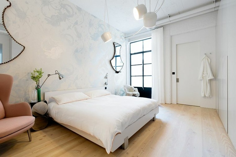 belleza delicada blanco dormitorio diseno escandinavo moderno