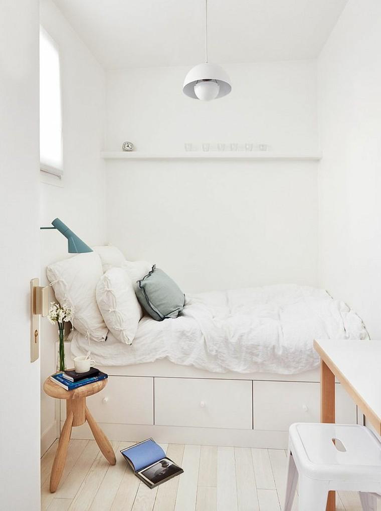 belleza dormitorio pequeno estilo escandinavo moderno