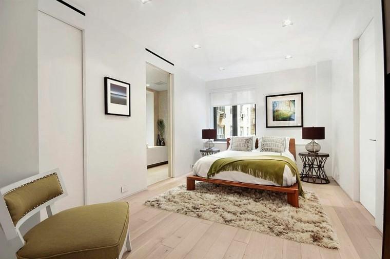 belleza dormitorio toques verde diseno escandinavo moderno