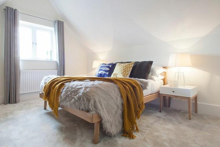 belleza espacios pequenos dormitorio diseno escandinavo moderno