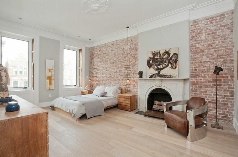 belleza pared baldosas dormitorio diseno escandinavo moderno