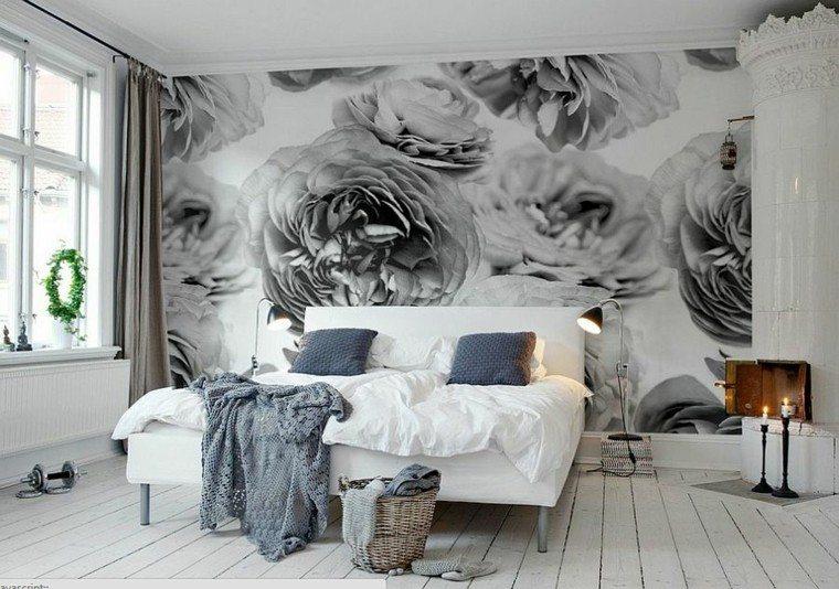 belleza pared estampa dormitorio diseno escandinavo moderno
