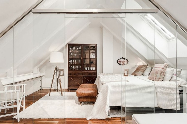 belleza puertas cristal transparente diseno escandinavo moderno