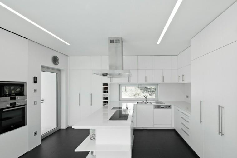 blanco cocina horno moderno brillante