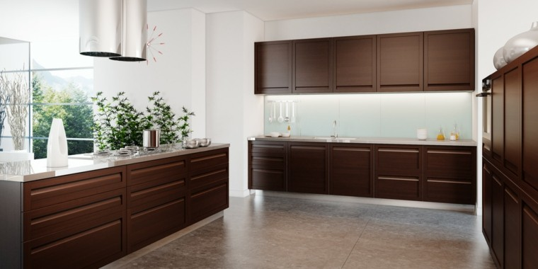 Blanco y madera cincuenta ideas para decorar tu cocina - Cocinas de madera modernas ...