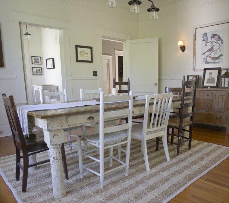 blanco mesa tradicional comedor rustico