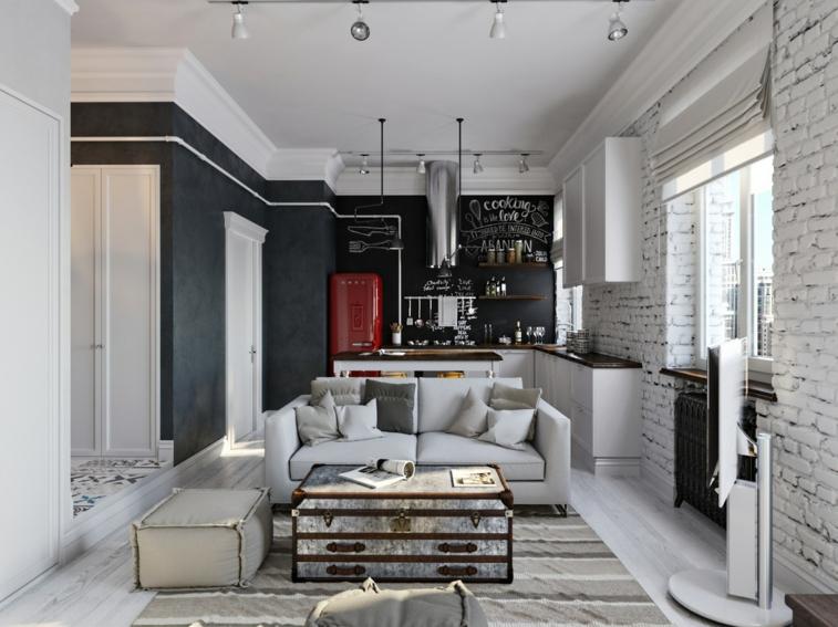 diseño blanco negro estilo boho