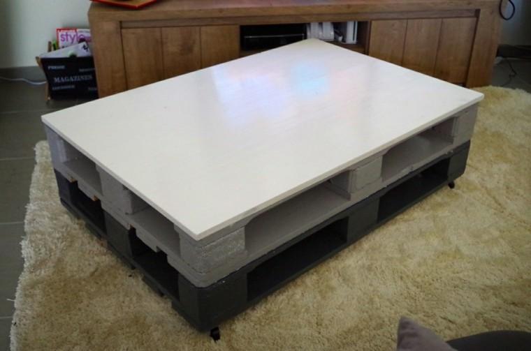 Muebles hechos con palets 100 ideas para el hogar - Mesa escritorio con ruedas ...