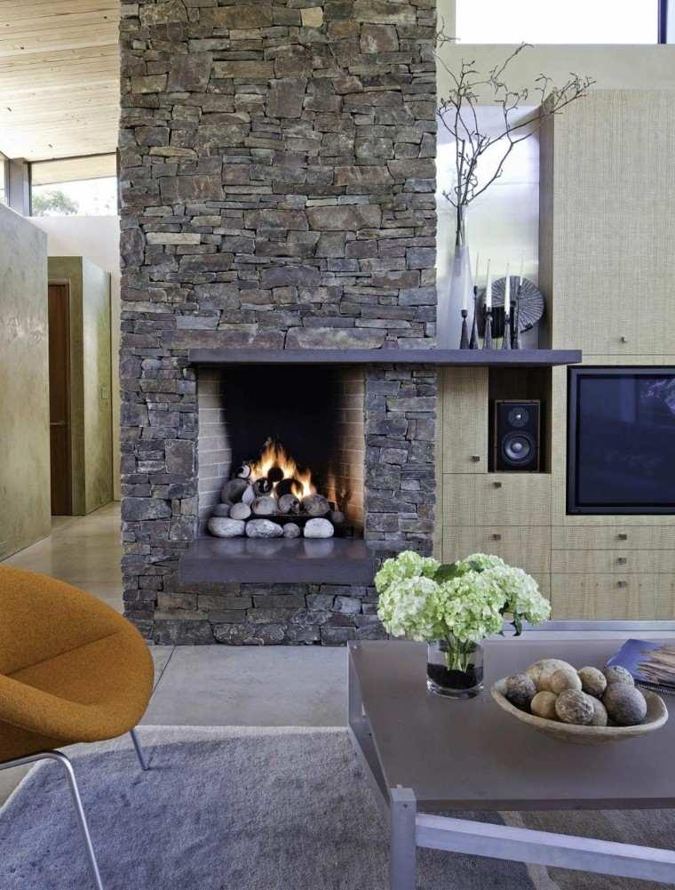 Piedra y madera para los revestimientos de paredes - Piedras para chimeneas ...