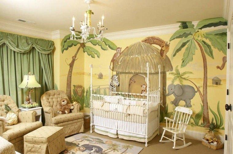 bonita decoracion selva bebe