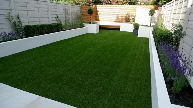 bonita hierba jardin moderno parcela