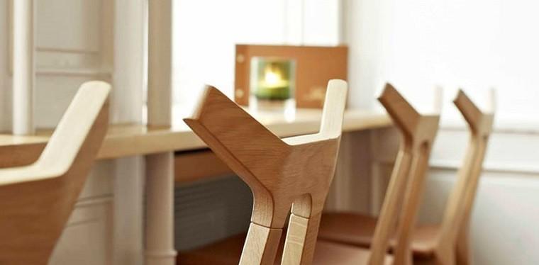 Oficinas y estudios con dise os de estilo escandinavo for Sillas para oficina de madera