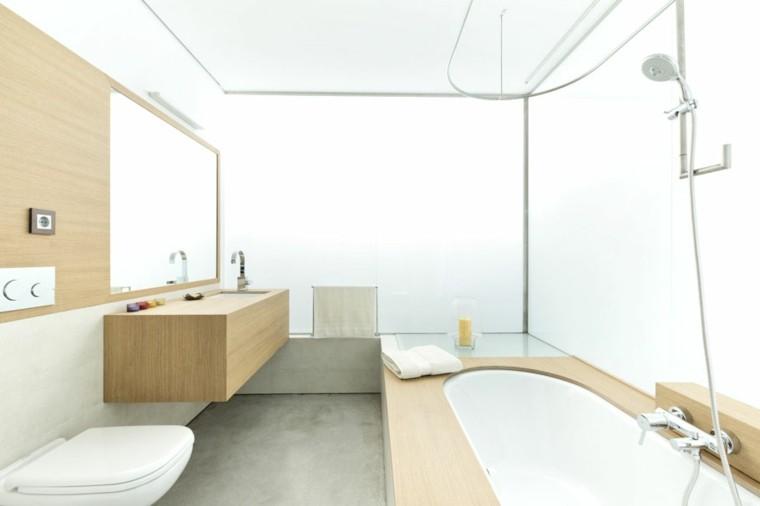 bonito baño diseño blanco madera
