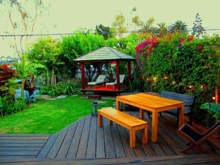 bonito jardin plantas pergola madera - Pergolas Jardin