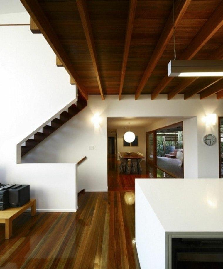 Techos de madera cincuenta ideas modernas for Techos rusticos para galerias