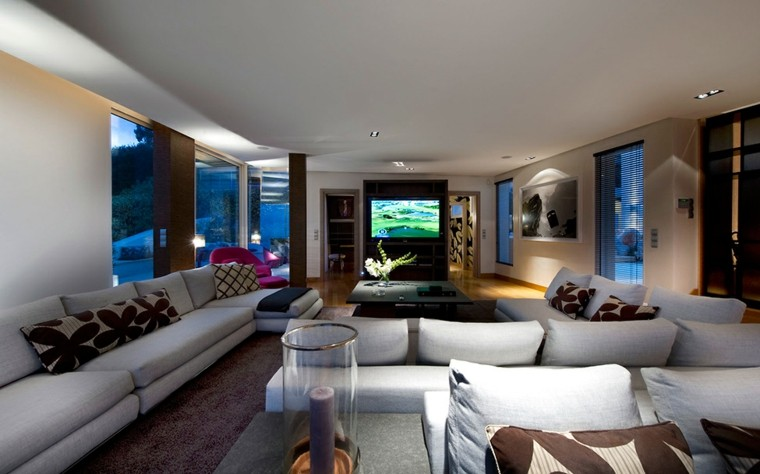 bonito salon diseño moderno luces