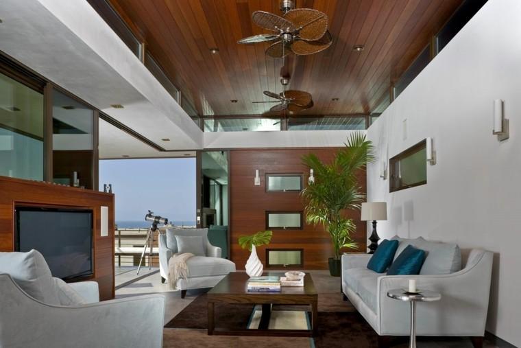bonito salon madera estilo nautico