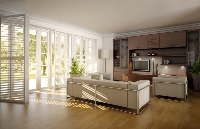 bonito salon suelo laminado madera