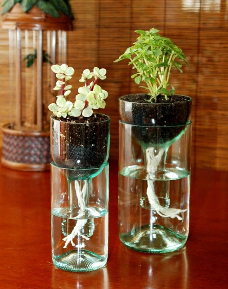 Hazlo tu mismo adornos minimalistas de buen gusto - Decoracion con botellas ...