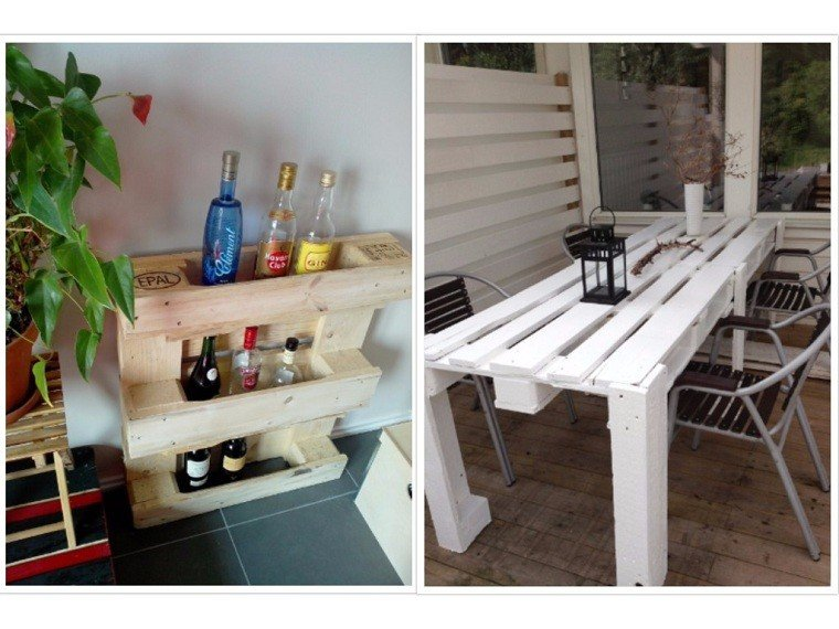 botellas silla patio exterior mesa