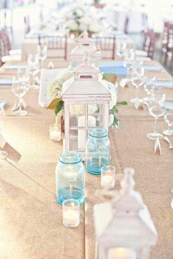 botes tarros azules deco mesa