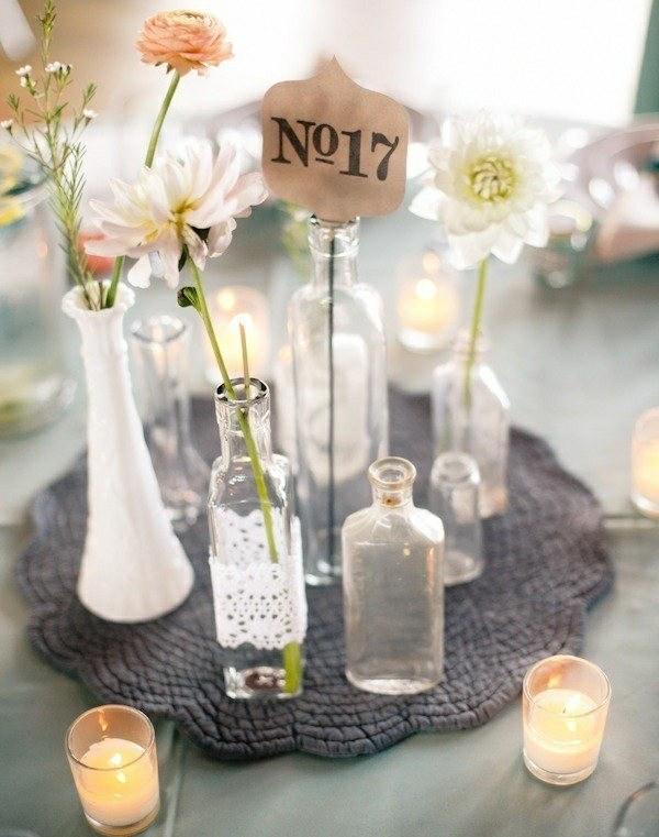 botes cristal jarrones velas flores