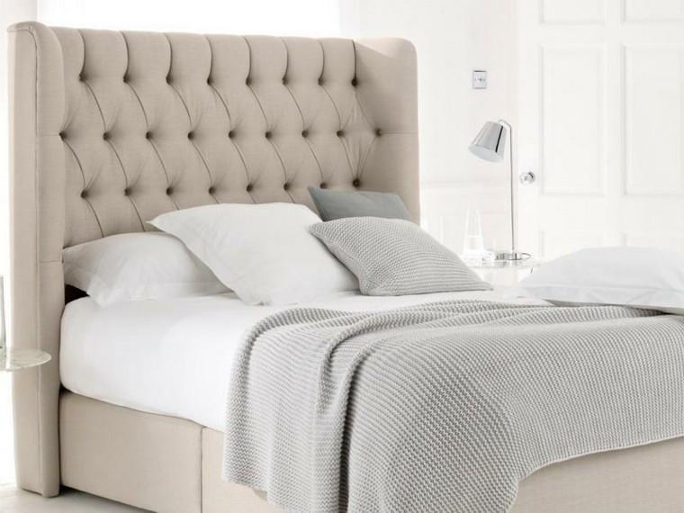 cabecero cama beige ropa cama cojines preciosos ideas