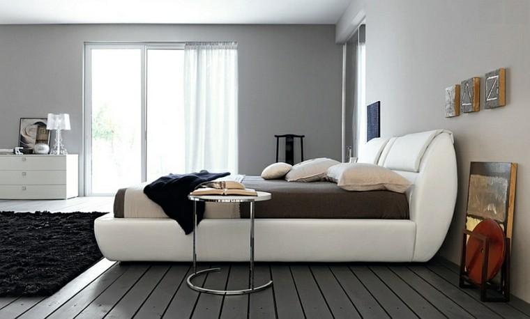 cabecero cama dormitorio estilo sofisticado blanco ideas