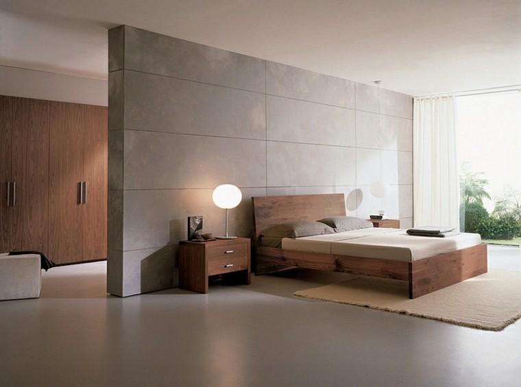 cabecero cama madera dormitorio ralax estilo minimalista ideas