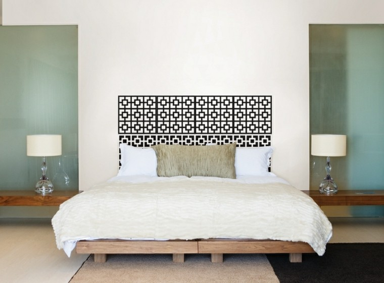 Revestimiento de paredes de dormitorios 50 ideas for Spalliere letto ikea