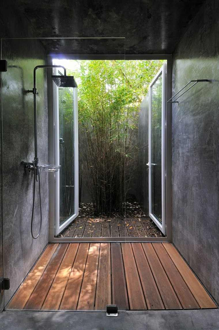 cabina ducha moderna industrial exterior
