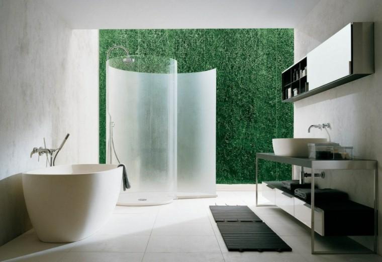 cabina ducha moderna redonda patio