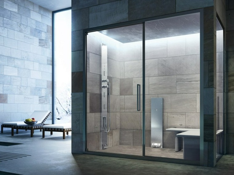 cabina moderna ducha baño vapor