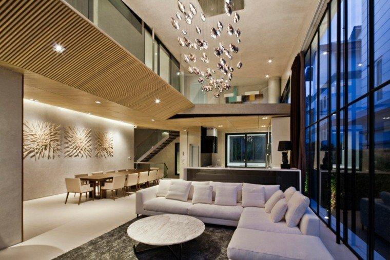 muebles salon moderno abierto comedor amplio ideas