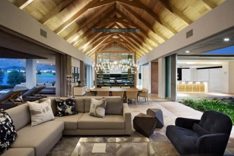 muebles salon moderno abierto comedor ideas