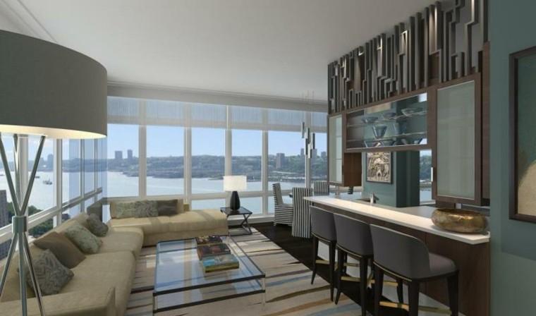 muebles salon moderno mesa cristal preciosa ideas