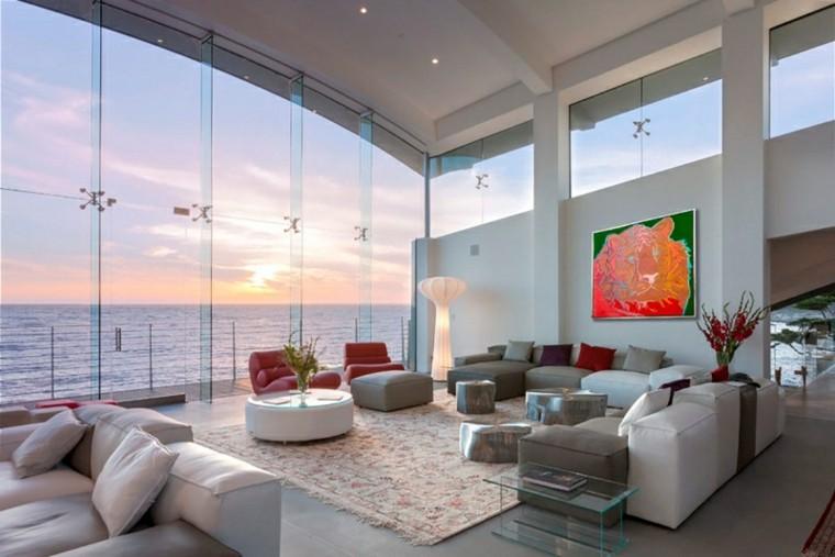 calidad muebles salon moderno ventanales blanco ideas