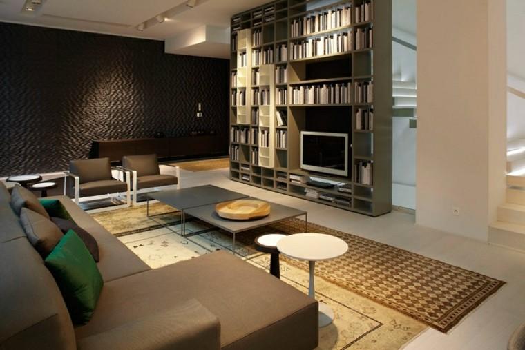 calidad salon mueble grande estantes madera ideas