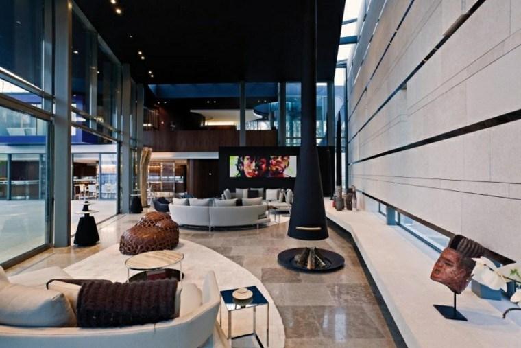 calidad salon estilo escandinavo moderno chimenea ideas