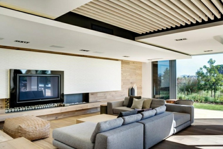calidad sofa grande gris taburete cuero salon ideas