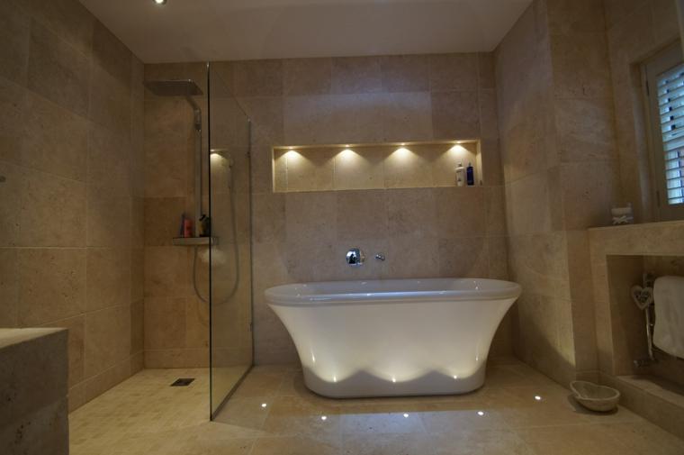 calido baño velas ducha revestimiento