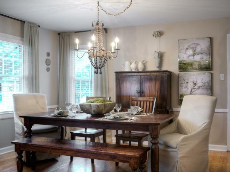 calido cuadro madera muebles lampara
