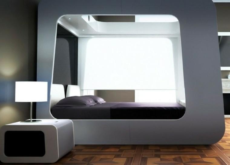 cama cabina dosel moderno teel