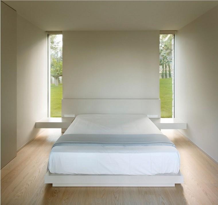 cama doble dormitorio vistas cabecero