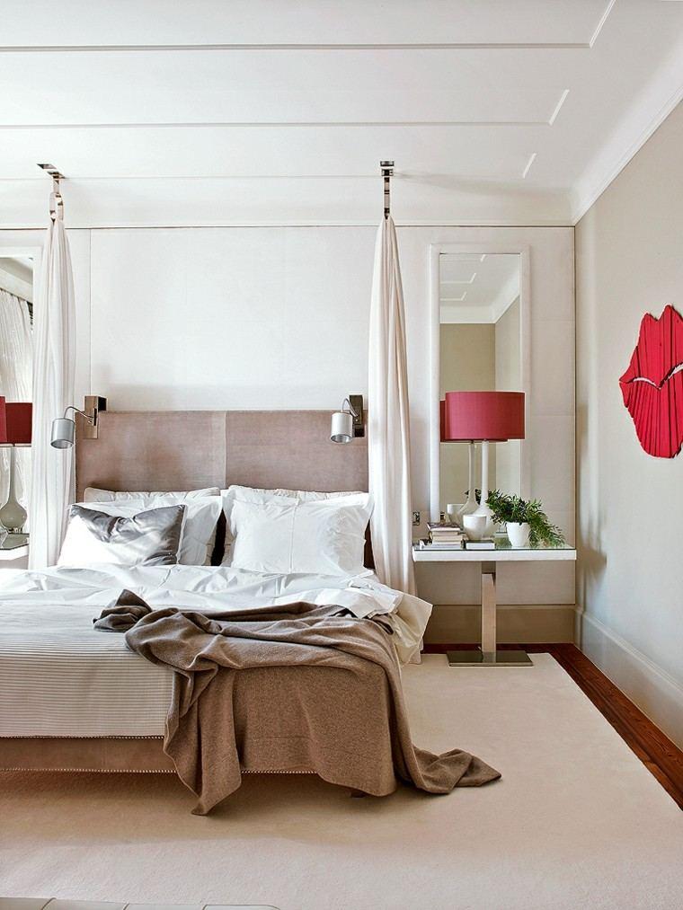 cama dosel estilo moderno techo