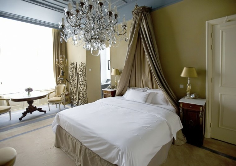 cama dosel lampara preciosa cristal dormitorio ideas modernas
