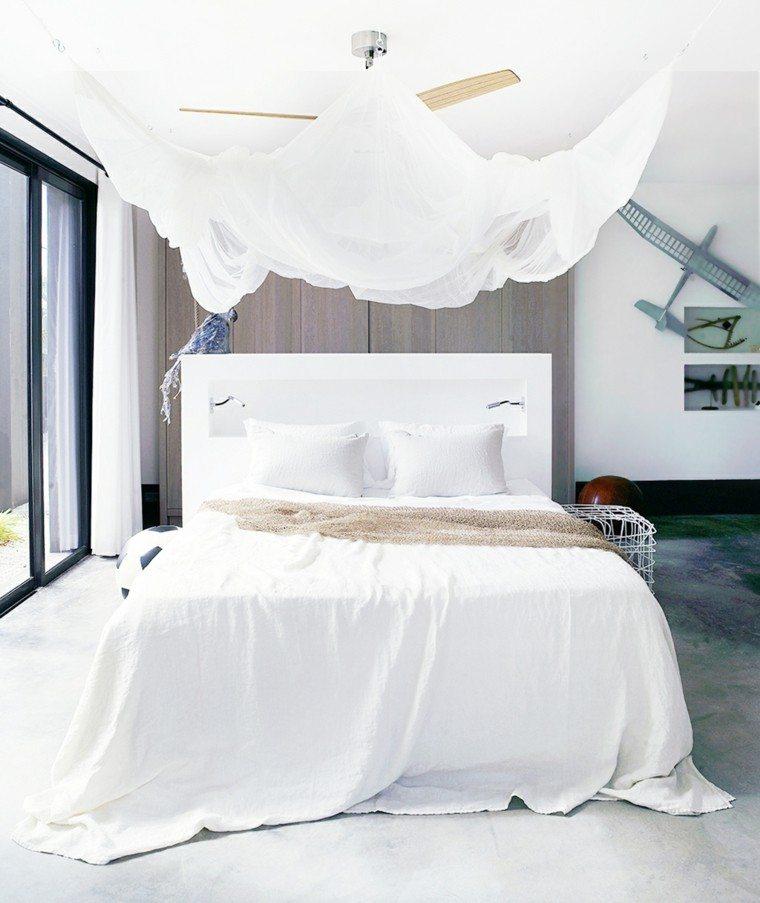 cama grande mosquitera blanca dosel
