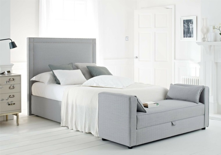 Cabecero cama y otras ideas para el dormitorio - Cabeceros de madera blanco ...